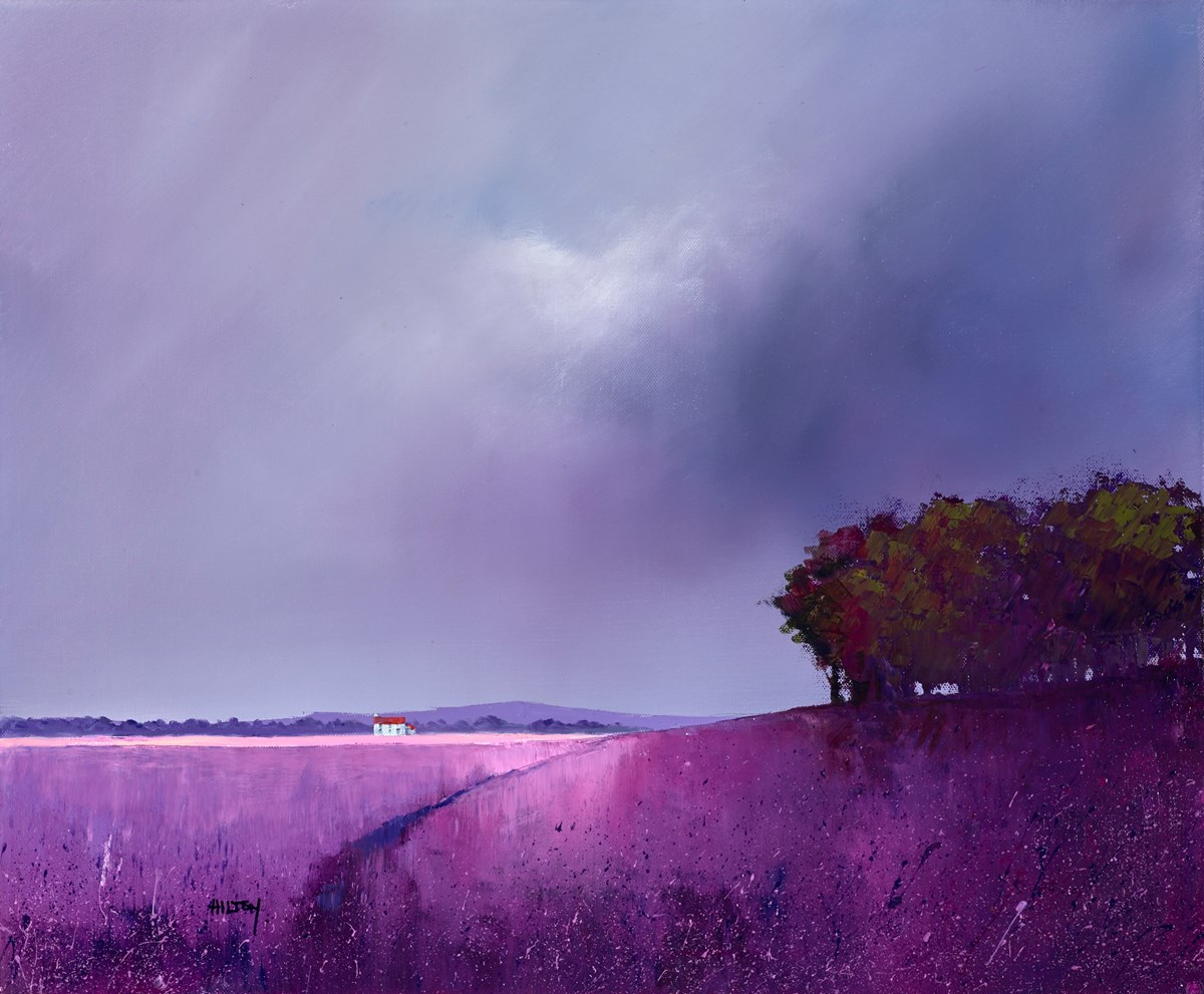 Magenta Meadow by barry hilton -  sized 24x20 inches. Available from Whitewall Galleries